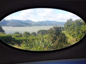 The view from the home in Warrington, New Zealand.