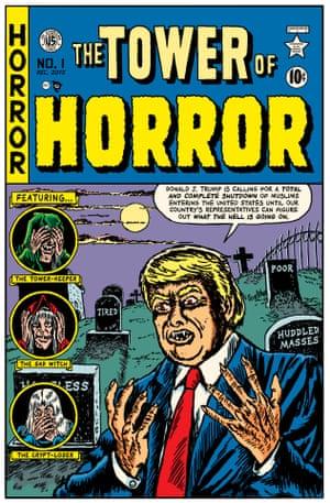 Johnny Craig cover for Vault of Horror #17, EC Comics, February-March 1951