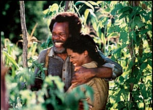 Danny Glover and Oprah Winfrey in the 1998 film adaptation of Beloved.