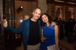 Chef Yotam Ottelenghi with writer, broadcaster and cook Yasmin Khan