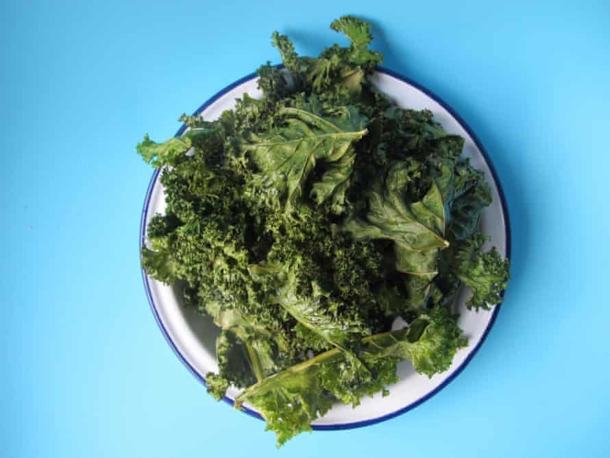 Goop's kale chips ... chewy centres.