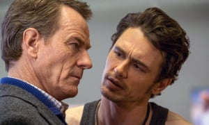Craggy disapproval … Bryan Cranston, left, with James Franco.