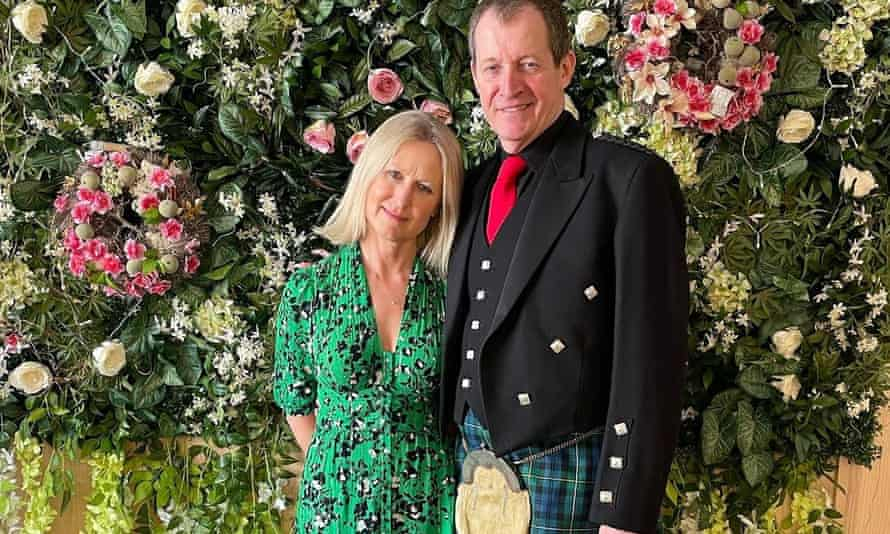 Fiona Millar and Alastair Campbell at their civil partnership ceremony.