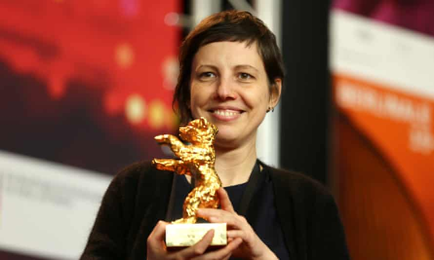 Touch Me Not director Adina Pintilie with the Golden Bear.