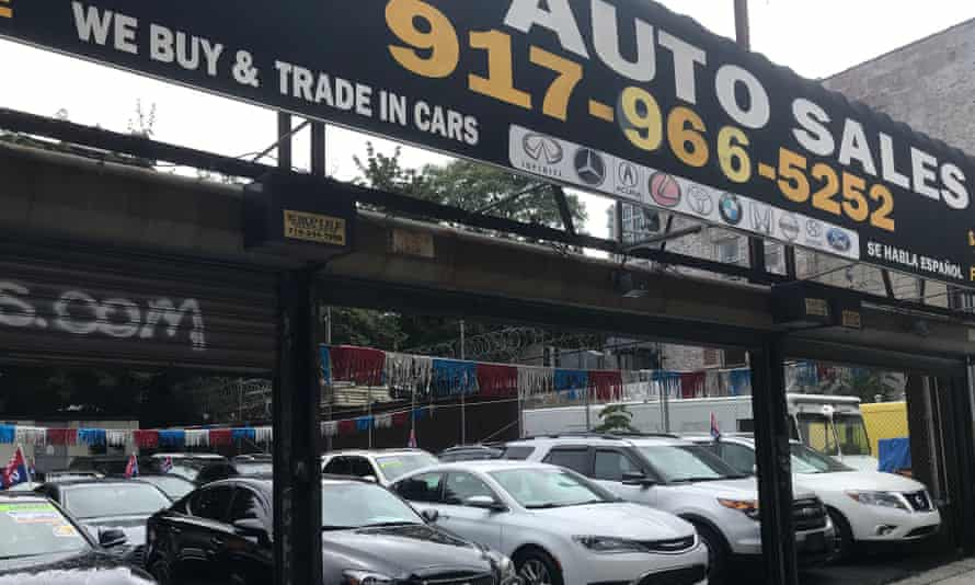 a secondhand car sales showroom