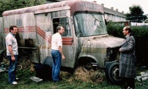 Colm Meaney, Donal O'Kelly and Brendan O'Carroll in The Van