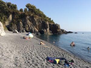 Tarzan beach, near Marina di Maratea.