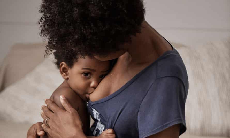 A Gap ad featuring breastfeeding.