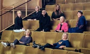 Clockwise from far left: Lysette Anthony, actor; Alice Evans, actor; Ramy El-Bergamy, on-screen diversity executive, C4; Amma Asante, director; Kate Kinninmont, CEO of Women in Film & Television UK; Rebecca O'Brien, producer, Sixteen Films; Alison Owen, producer, Monumental Pictures; Hope Dickson Leach, director and co-founder of Raising Films. Photograph: Ben Quinton and Barry J Holmes for the Guardian. Hair and makeup: Dani Richardson; Tara Shakespeare (Alice Evans). Shot on location at regentstreetcinema.com. Thanks to springstudios.com.