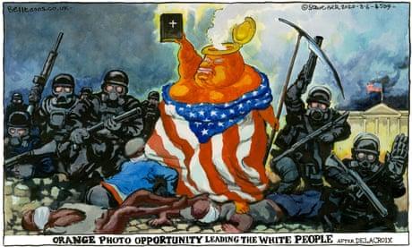 Steve Bell on Trump's church photo op amid George Floyd protests — cartoon