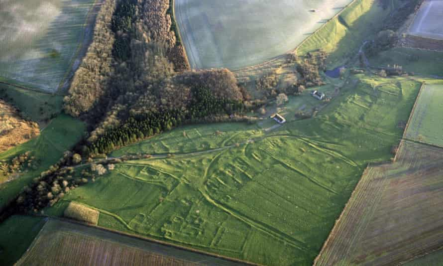 The Wharram Percy excavation area as it looks today