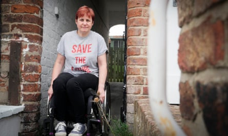 Wheelchair user Cath Scarlett at her home in Driffield.
