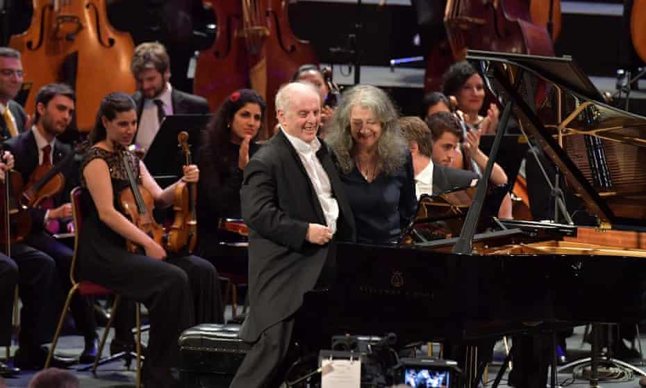 Daniel Barenboim and Martha Argerich at the BBC Proms.