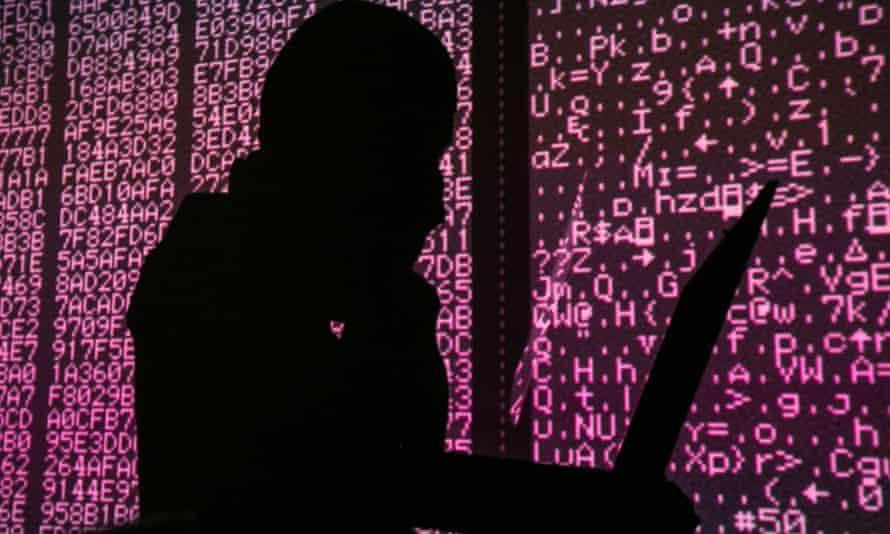 Silhouette of hacker