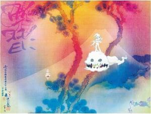Artwork for Kanye West and Kid Cudi's album Kids See Ghosts.