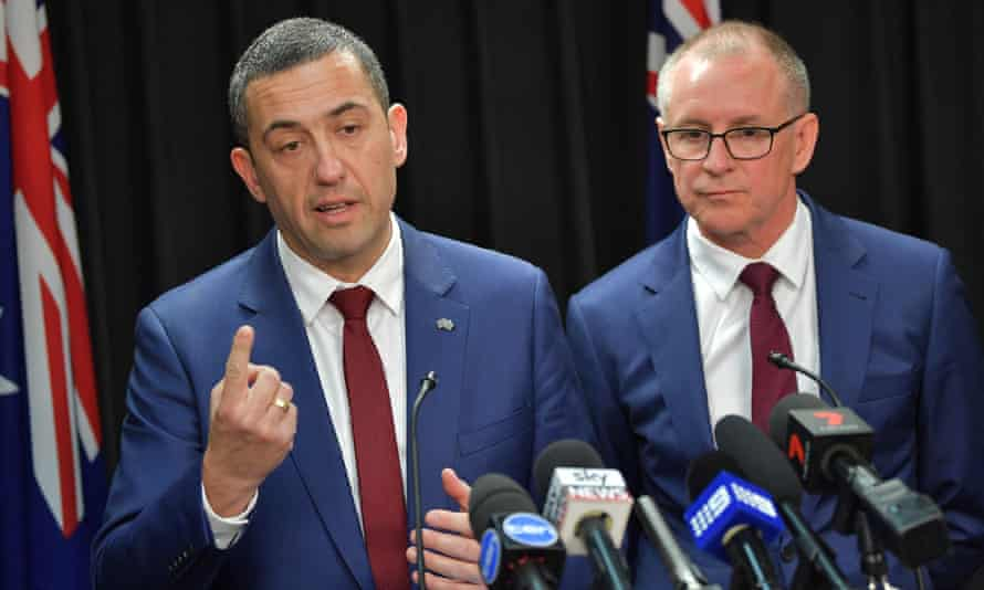 The South Australian energy minister, Tom Koutsantonis, and the premier, Jay Weatherill