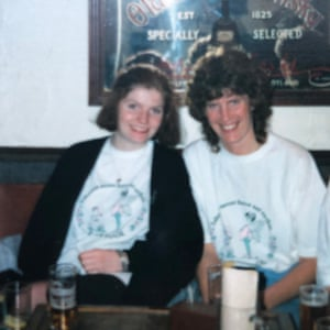 Cathy Rentzenbrink and her mother Margaret Mintern in the Bell & Crown Inn in 1989.