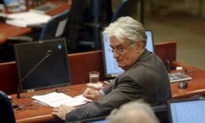 Former Bosnian Serb leader Radovan Karadžić.
