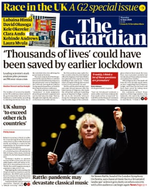 The Guardian front page, Thursday 11 June 2020.