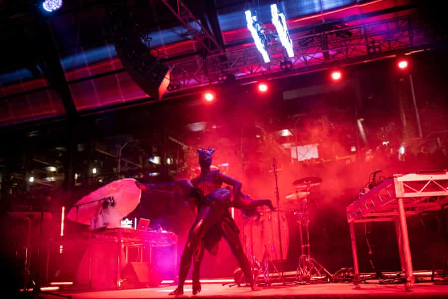 Makeda performs at Dark Mofo.