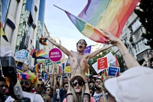 A Gay Pride parade near Taksim square in Istanbul, in 2015