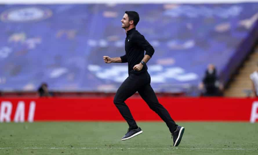 Mikel Arteta's plan of attacking the space behind Chelsea's full-back eventually paid off.