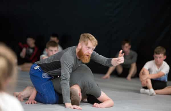 Paddy Holohan training the kids at his gym in Tallaght.