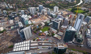 High-rise development in Parramatta, which will anchor the proposed 'Central River City'.
