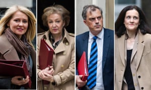Esther McVey, Andrea Leadsom, Julian Smith, and Theresa Villers.