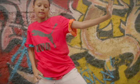 A still from the Puma campaign which allegedly painted buildings in a heritage precinct with graffiti.