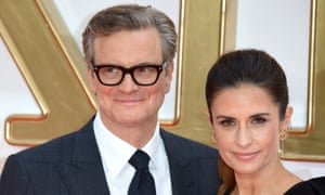 Colin Firth and his Italian wife Livia