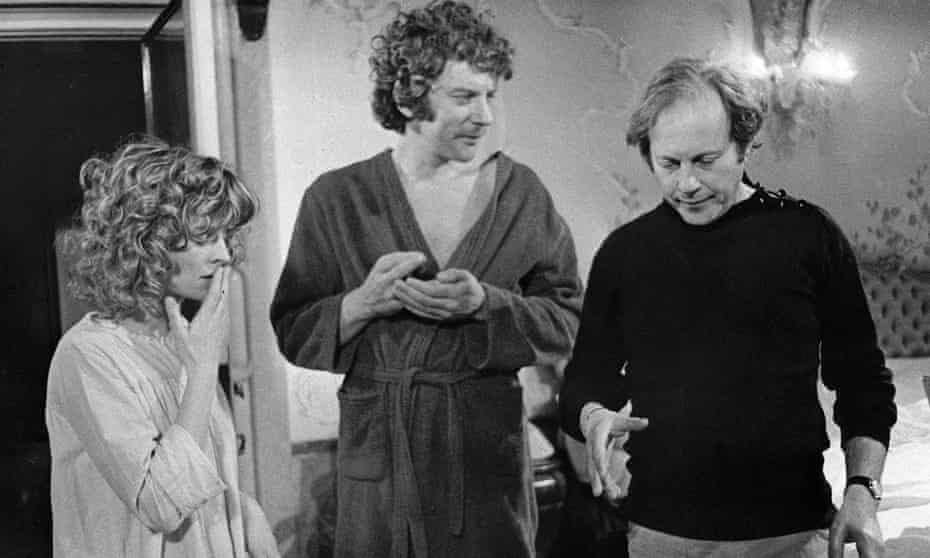 Julie Christie, Donald Sutherland and Nicolas Roeg filming the sex scene in Don't Look Now.