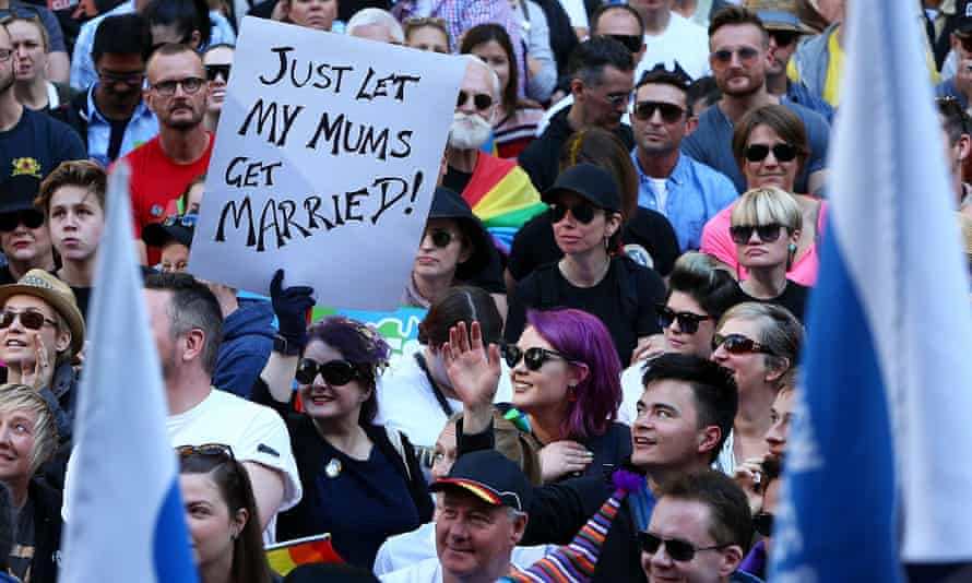 Rally for marriage equality, 10 September 2017, Sydney, Australia