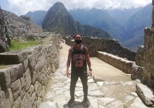 Man at Machu Picchu