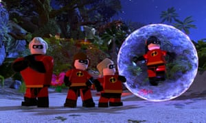 Teamwork … a screenshot from Lego The Incredibles video game.