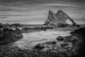Bow Fiddle Rock, north-east Scotland, by Andy Leonard.