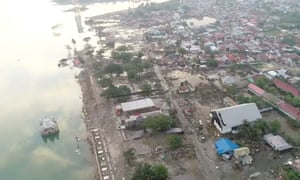 The tsunami-hit city of Palu is home to 350,000 people.