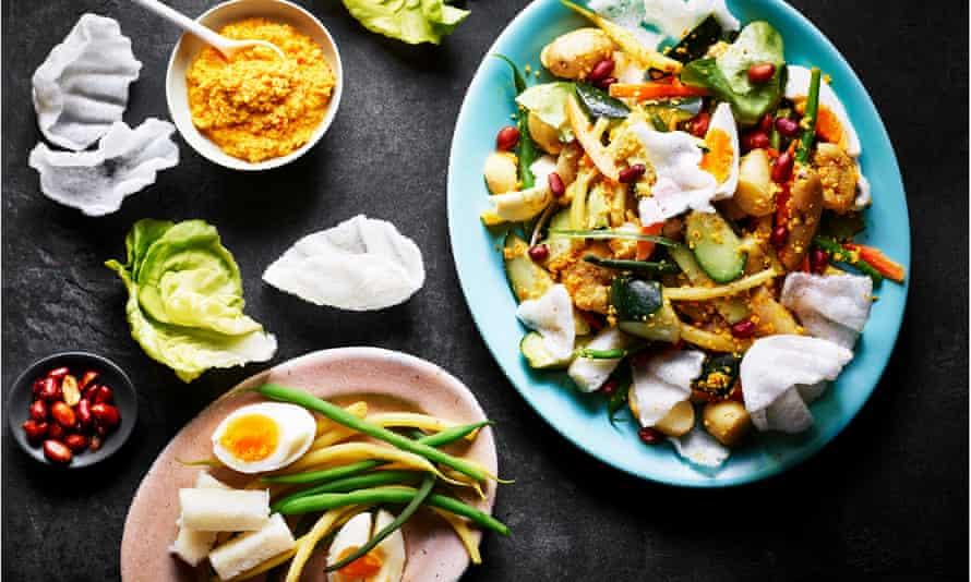Gado gado – Malaysian peanut salad.