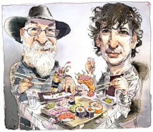 Terry Pratchett and Neil Gaiman.