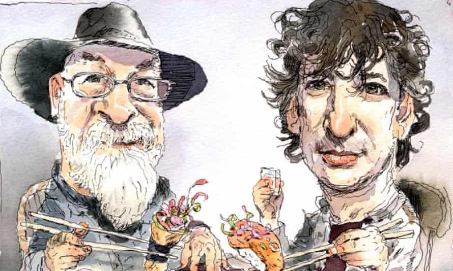 Terry Pratchett and Neil Gaiman.