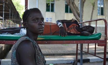 Nyruach Lam, 30, at Gambella hospital in Gambella town, Ethiopia, on 17 April.