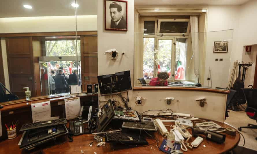 Ransacked trade union offices