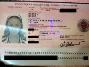 Passport of Tatiana Navka