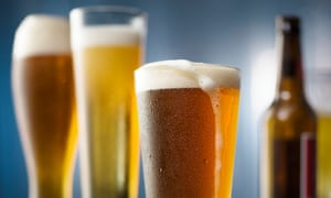 Beer in different glasses