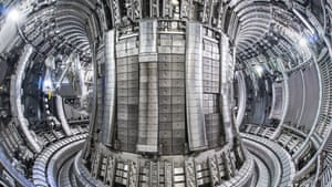 Inside the tokamak at Culham, Oxfordshire.
