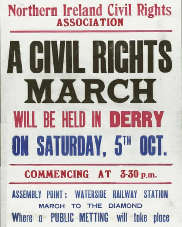 A poster announcing the Derry march that ended in disaster.