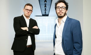 Peter Mason, left, and Adam Langleben. Photograph: David Levene/The Guardian