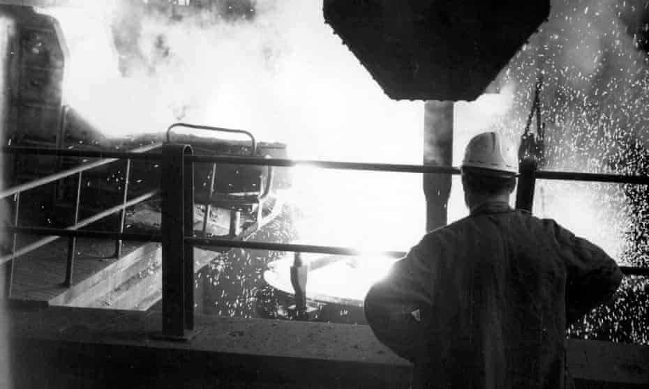 electric arc furnace at the Stocksbridge steelworks