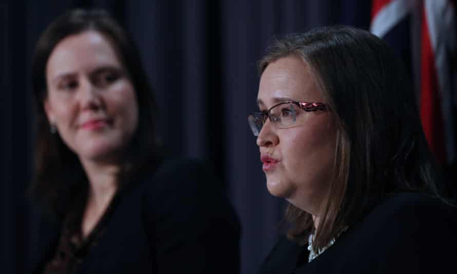 Minister for women Kelly O'Dwyer and sex discrimination commissioner Kate Jenkins