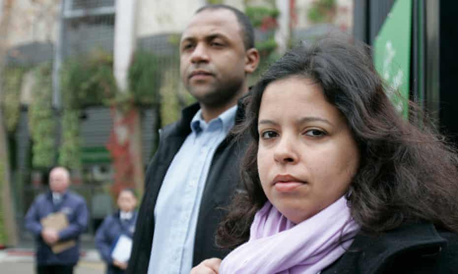 Patricia Armani Da Silva, right, arrives at the inquest on 24 September 2008 into the death of Jean Charles de Menezes